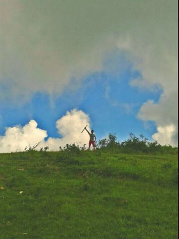 Mt.Pasngao Cloud - Sky Grass Adult Only Men Outdoors One Man Only Nature Real People Tree Grass Exploration Looking At Camera Sunlight Water Fun Day Fuel And Power Generation Travel Destinations People Wind Turbine Standing Friendship Adventure Bonding