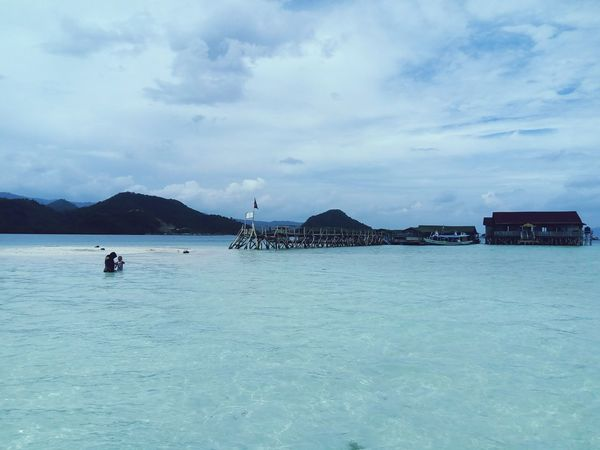 Sea Outdoors Cloud - Sky Beach Water Day Vacations Nature Sky Mountain Beauty In Nature INDONESIA Lampung Horizon Over Water Tourist Resort Island
