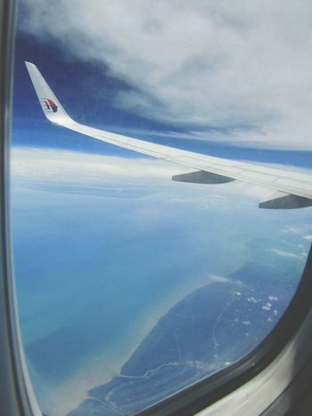 Above Peninsular of Malaysia Transportation Landscape Travel Destinations Cloud - Sky InFlightPhoto Inflightpictures Commercial Airplane Mid-air Sky Aircraft Wing Air Vehicle Flying Aerial View Airplane High Angle View Malaysia Malaysia Truly Asia Malaysia Scenery