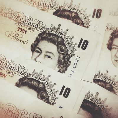 British ten pound bank Creativity Paper Real People Indoors  Close-up Banknotes Cash Cash Money Banking Payment In Cash Payment Sterling Pound Pounds
