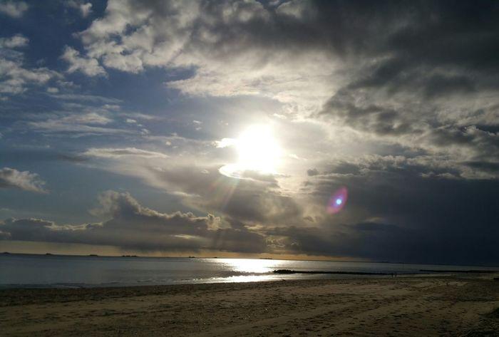Cloud - Sky Beach Sea Sun Nature Horizon Over Water Sky Beauty In Nature