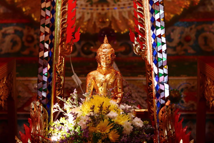 Sculpture of buddha statue in temple