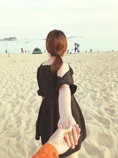 My girl Beach Land Sea Sand Water Real People Leisure Activity Nature First Eyeem Photo