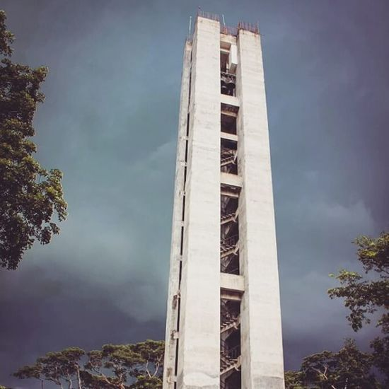 """""""Your tall enough!""""I can't fit you whole, XD Carillontower UPLB"""