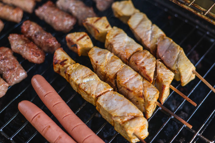 Barbaque Barbecue Barbecue Grill Barbecue Season Barbecuetime BBQ BBQ Time Cevapi Char-grilled Cooking Fire Food Grill Grilled Grilled Chicken Grilled Meat Grilling Grilling Out High Angle View Kitchen Meat Pork Smoke Street Food Cevapi