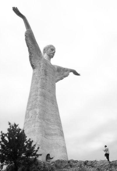 Cristo Redentore Basilicata Blackandwhite Christ Cristo Italia Italy Maratea Statue