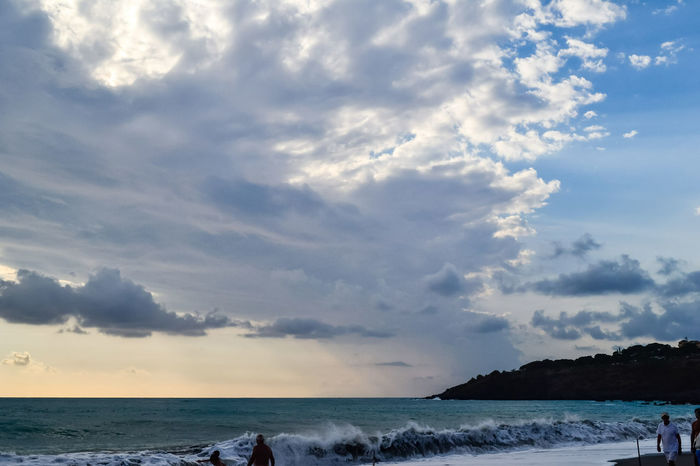 Scalea Clouds And Sky Calabria Italy Raggi Di Sole Rays Of Light Water Sea Wave Beach Tree Blue Sand Sunset Dramatic Sky Environment Seascape Thunderstorm Coast