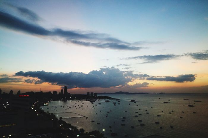Clouds Water Sea Sky Nature Beauty In Nature Scenics Outdoors Sunset No People Tranquility Beach Mountain Horizon Over Water Architecture Cityscape Day