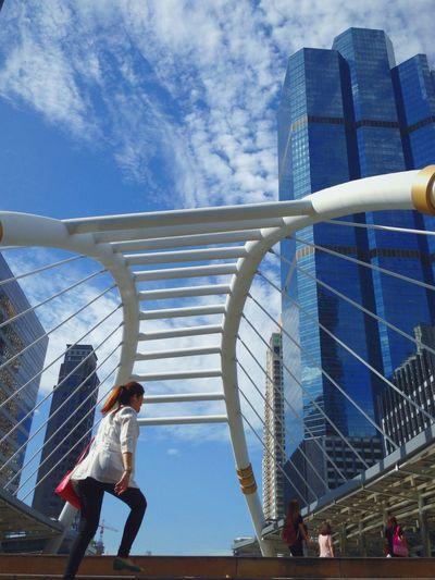 Downtown Bangkok Bridge Sky Tower Walk