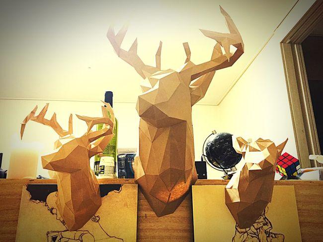 Deer Head Hunting Trophy Paper Craft