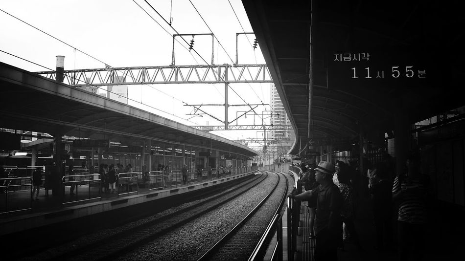 Train Station Black & White Mono Photo