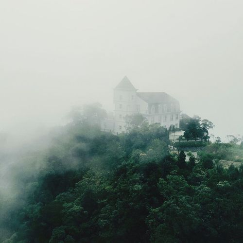 Danang Vietnam Fog Frencharchitecture Famous Place Buildings Architecture Outdoors