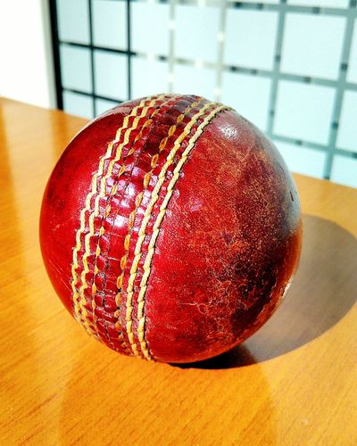 Cricket ! Red No People Leather Sport Ball Close-up Day Sunny Sunny Day Shining Sheen Vivid Bright