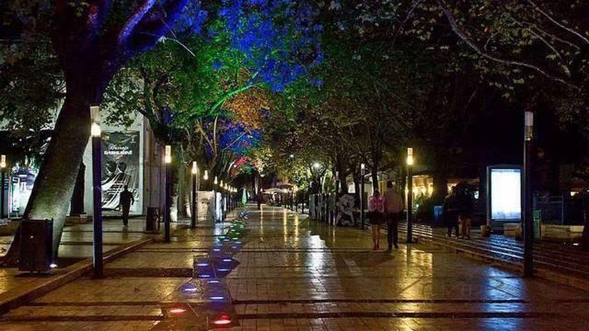 Nightout City Lights Silent Time Walking Alone...
