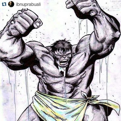 Repost @ibnuprabuali with @repostapp ・・・ Art Illustration Drawing Draw Picture Photography Artist Sketch Sketchbook Paper Pen Pencil Artsy Instaart Gallery Masterpiece Creative Instaartist Graphic Graphics Artoftheday Grayhulk Hulk Mrfixit joefixit incrediblehulk marvel comic mutant