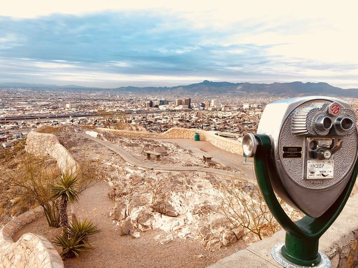 Scenic view EL Paso🇨🇱 Beach Sand Sky Coin-operated Binoculars Sea Shore Cloud - Sky Telescope Water Scenics Day Outdoors No People Beauty In Nature Nature Horizon Over Water