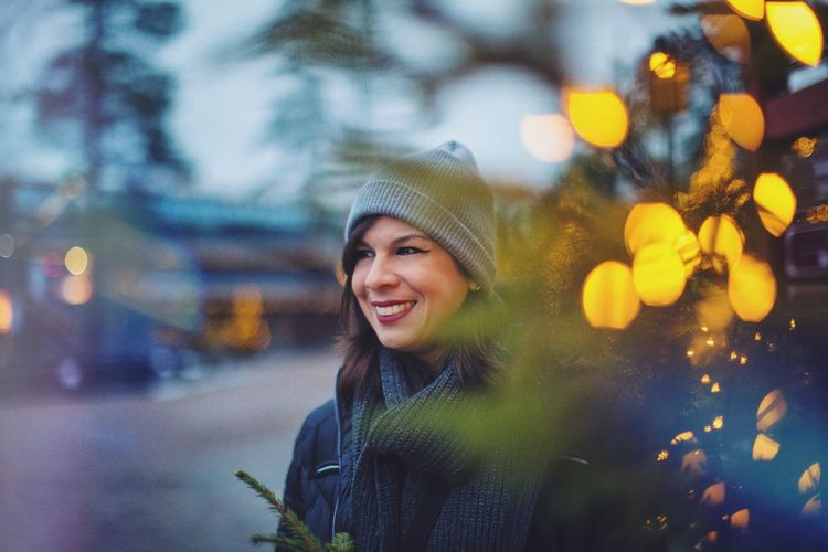 Smiling Happiness Young Adult Leisure Activity Lifestyles Portrait Outdoors Young Women One Person Beautiful Woman Winter Real People Cheerful Warm Clothing Vacations Night Nature Adult City One Young Woman Only Portraits Portrait Photography EyeEmNewHere