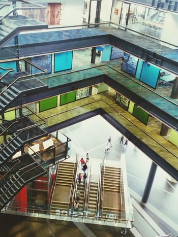 Mit Levels Coloursplash Trainstation Stairs To New Place Green Yellow Escalator Everyday Lives Design Architecture