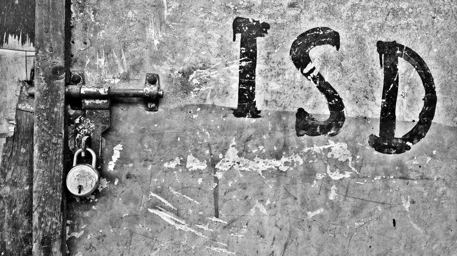 Telephone Booth Door Locked Isd B&w Street Photography