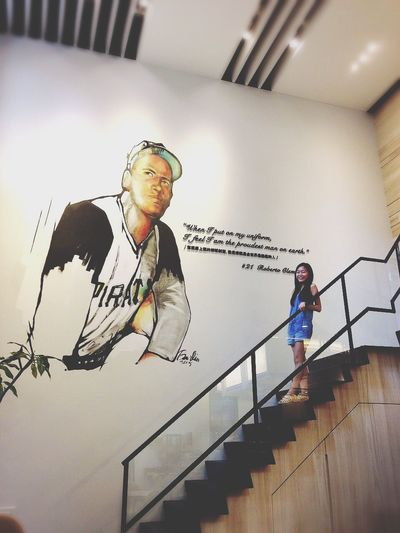 Cafe Time Baseball Player Stairs Less People Here Quality Time With My Girls