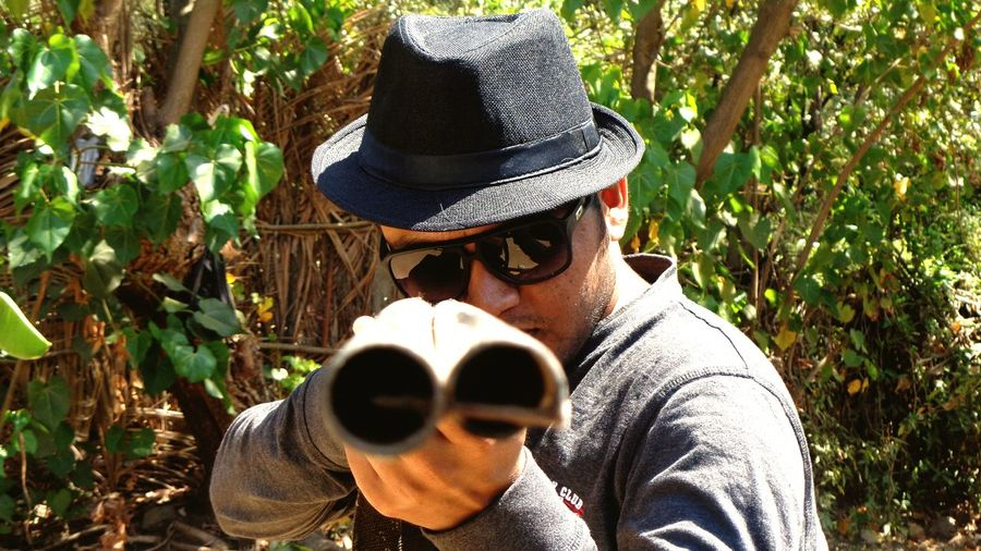 Man With Gun Man Shooting Shotgun Man In Action Man And Shotgun Man With Hat Gun Gun EyeEmNewHere