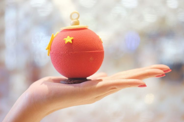 Make a wish! Close-up Human Body Part Focus On Foreground One Person Christmas Human Hand Christmas Ornament Christmas Decoration Indoors  People Ball Day Adult TWININGS TEA