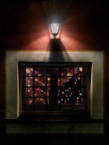 'a minimal Christmas carol' Illuminated Indoors  No People Architecture Minimal Minimalism Window Christmas Lights Christmas Decoration Light And Shadow Architectural Detail Christmastime Indoor Lighting