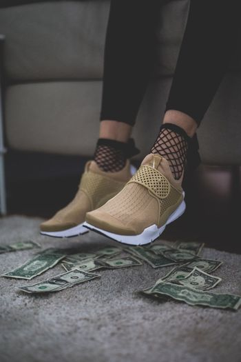 Indoors  Low Section Human Leg One Person Women Close-up One Woman Only Day People Sneaker Nike