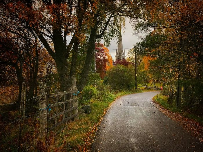 Autumn Scotland Braemar iphone Iphonography vignette Church Road Nature Tranquility Outdoors