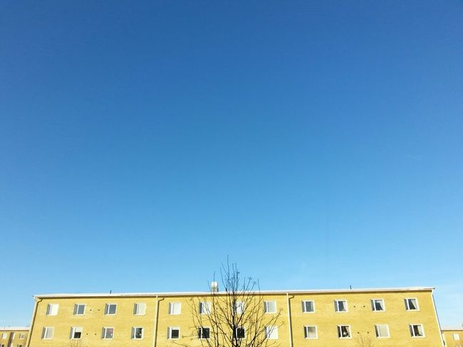 Good Morning Sunny Sunday Blue And Yellow All Blue Blue Sky Right Now Just Woke Up Still Cold