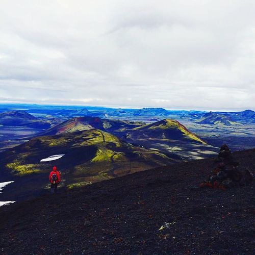 Iceland Hinking Mountain Hekla Heklavulcano Beauty In Nature Outdoors Landscape Nature Mountain Range Cloud - Sky Adventures Adventure Tranquility Favorite Places Travel Destinations Tranquil Scene