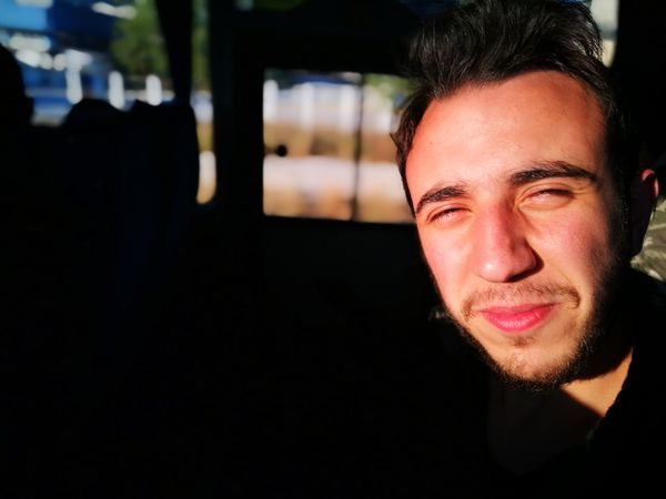 Panda One Man Only Smiling Human Face Close-up One Young Man Only Warm Colors Sun On Face Only Men Portrait Bus Face Headshot Cute Smile Smile ✌