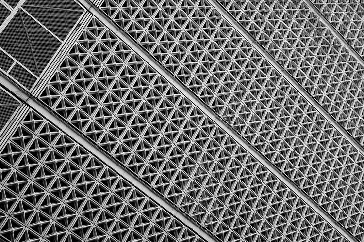 Full frame shot of metallic ceiling