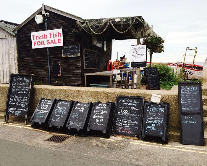Fresh fish on an English summer day... Aldeburgh Suffolk Seaside