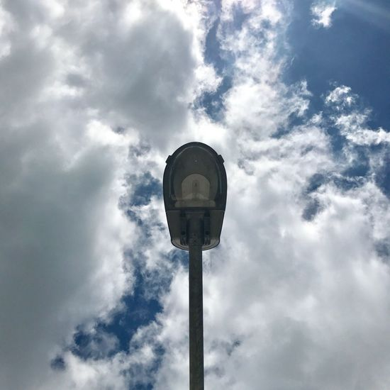 Low Angle View Cloud - Sky Sky Day No People Outdoors Blue Sky And Clouds Building Exterior Streetlights Summertime Summer Views Road Roadtrip
