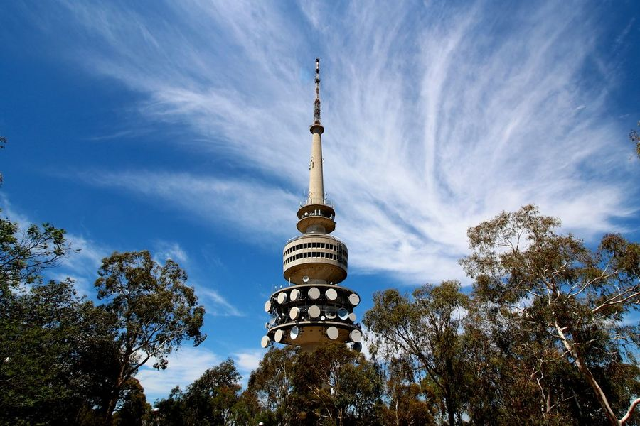 Telstra Tower, Black Mountain, Canberra Architecture Black Mountain Black Mountain Tower Building Exterior Built Structure Canberra Capital Cities  Communications Tower Dome Famous Place International Landmark Islam Outdoors Spire  Spirituality Telstra Tower Tower