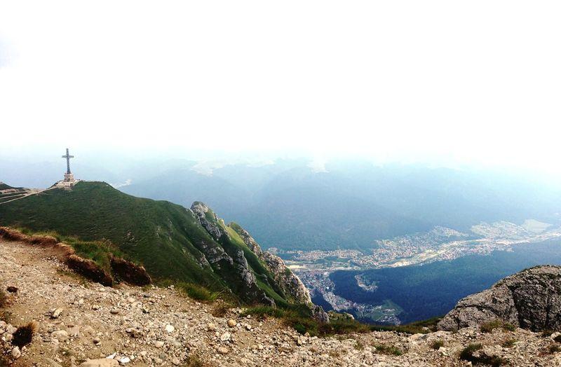 Crucea Caraiman Heroes' Cross On Caraiman Peak Beautiful Nature Romania