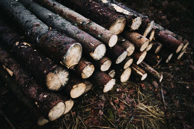 Holzstapel Log