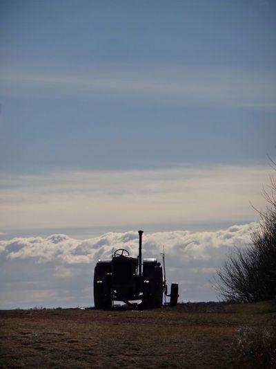Lethbridge EyeEm Best Shots Clouds And Sky Prairie Scenes Alberta Canada Iphonephotography Iphonephotoacademy Iphoneacademy IPhone Photography Eyemphotography Old Tractor