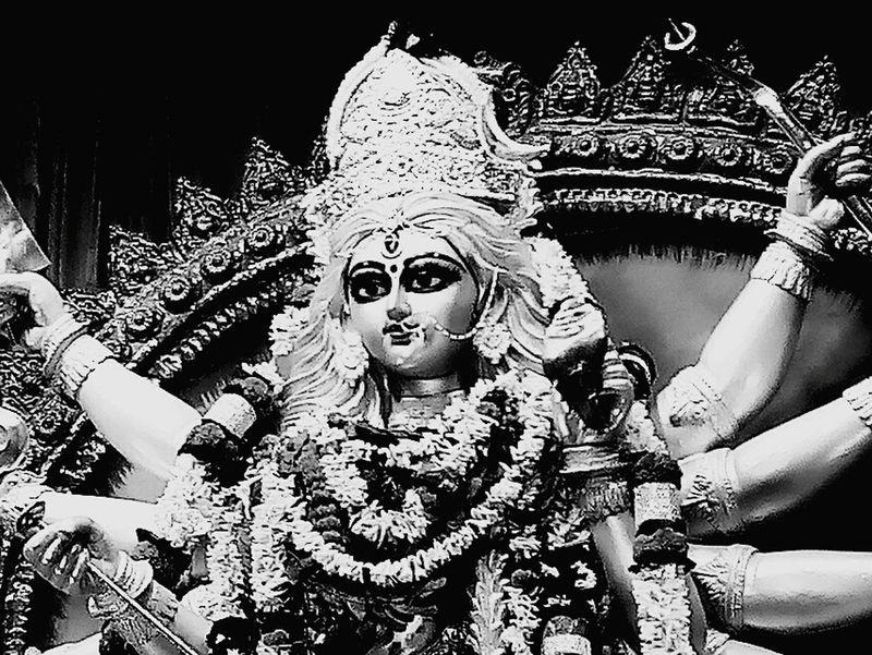 Monochrome Photography GoddessDurga Shaktism Biggest Festival Of Bengal Durgapuja Happiness Art Bliss