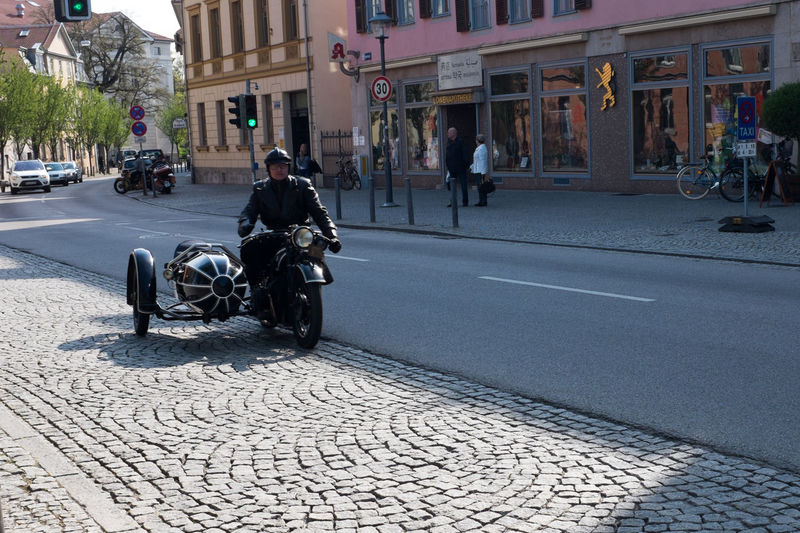 City Life Cobblestone Day Land Vehicle Men Mode Of Transport Paving Stone Perspective Street The Way Forward Transportation Urban Weimar