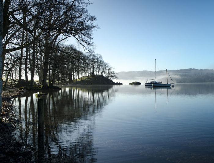 Lake Lake District Nautical Vessel Reflection Tranquility Water
