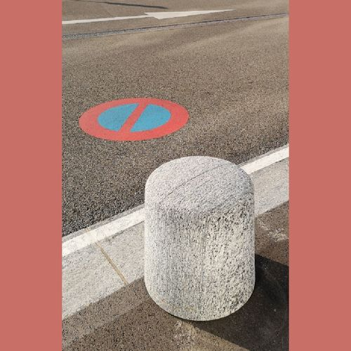 Road Sign Transportation Street City Symbol Day Road Marking Communication Marking High Angle View Road Sign Auto Post Production Filter Outdoors Geometric Shape Shape Yellow Red Asphalt Pattern Direction Architecture Dividing Line Textured  Art And Craft