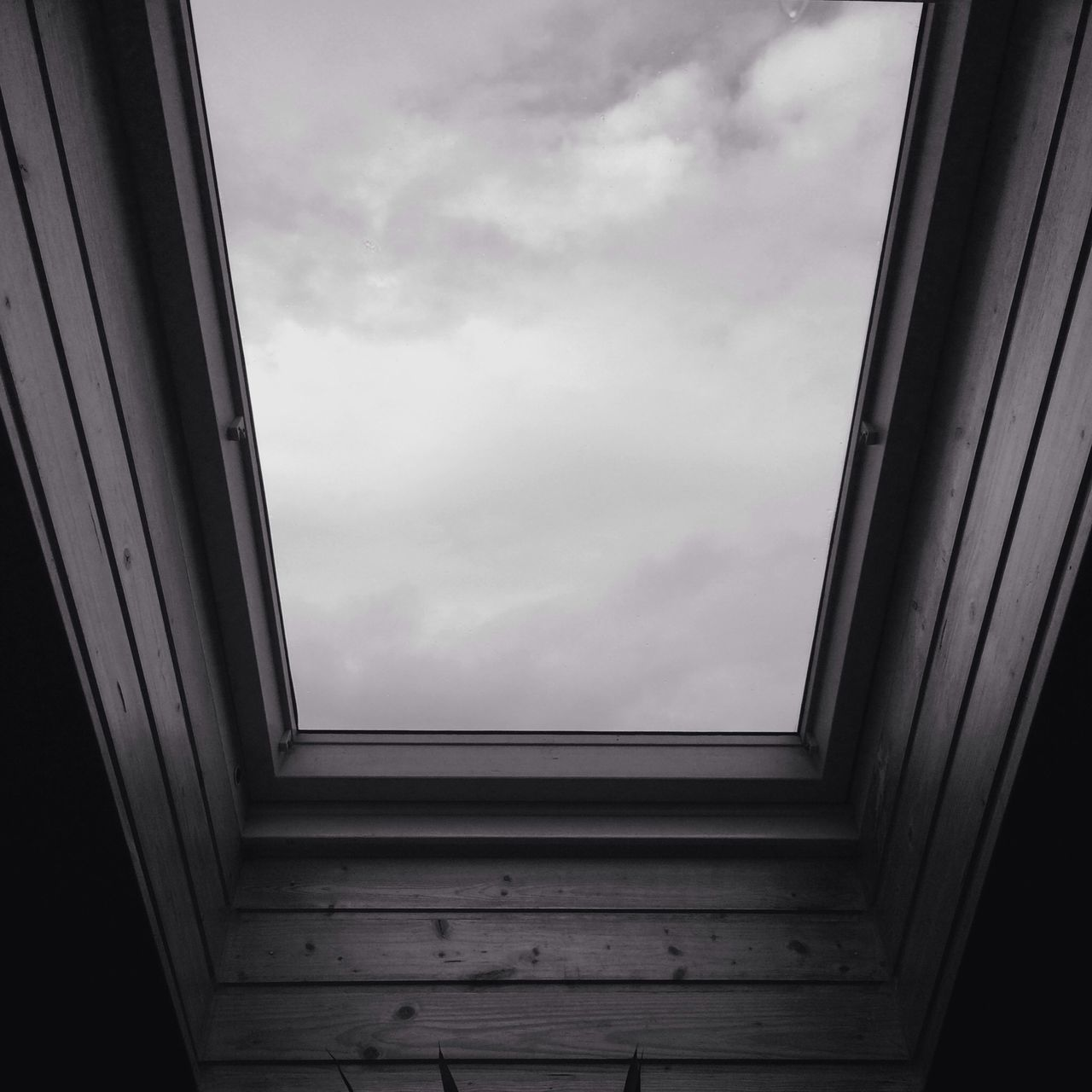 View of cloud from window