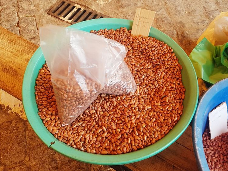 Local Market Farmers Market Food And Drink Healthy Eating For Sale Food Retail  Retail  Retail  Freshness Market Stall Abundance Large Group Of Objects Brown Close-up High Angle View Natural Beans Pulses Grains