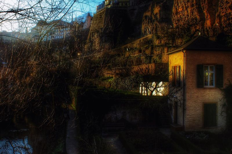 Sunset Sunshine Luxembourg Nature Lonely House HDR Europe