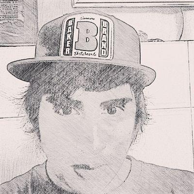Me Sepia Rayados Rayado skateboard baker barrabrava blue draw day instapic