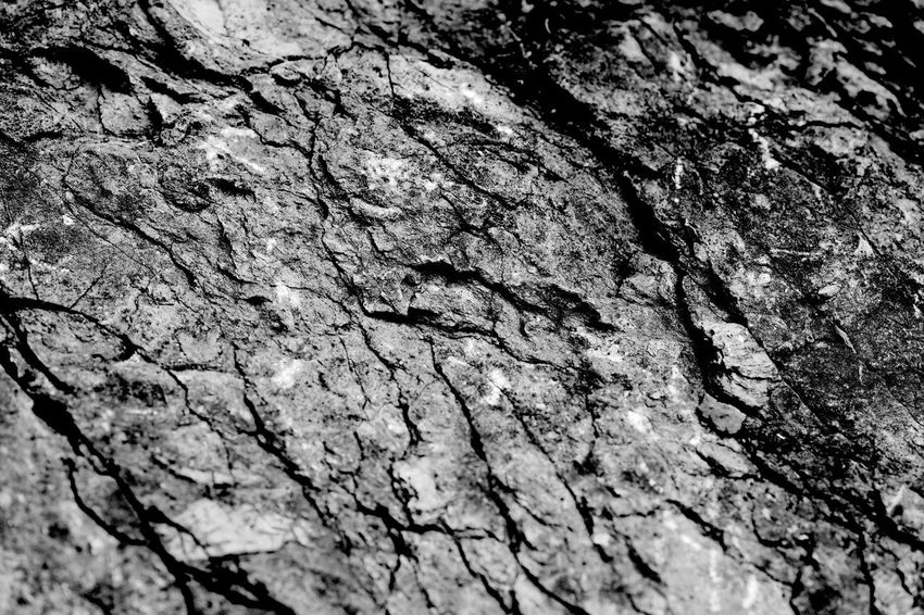 Rock Surface Black & White Rock Backgrounds Blackandwhite Close-up Cracked No People Pattern Rough Textured