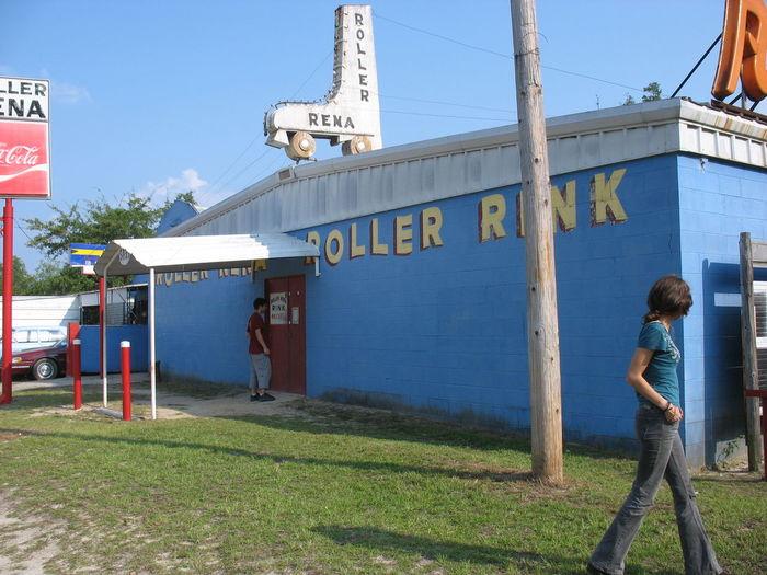 Abandoned Country Florida Florida Life Information Sign Pole Rink Road Sign Roller Rena Sign Skating Text