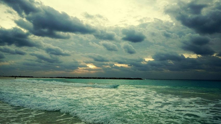 Cancun Cancunbeach Cancun Mexico Yucatán, México Ocean Sunrise Sand & Sea Sea Cloud - Sky Dramatic Sky Sunset Sky Tranquility Scenics Outdoors Nature Beauty In Nature Tranquil Scene Beach No People Water Horizon Over Water Landscape Vacations Day Tree EyeEmNewHere Go Higher